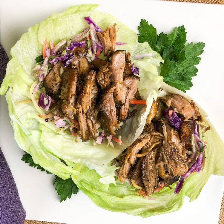 Slow-Cooked Pulled Pork Lettuce Wraps