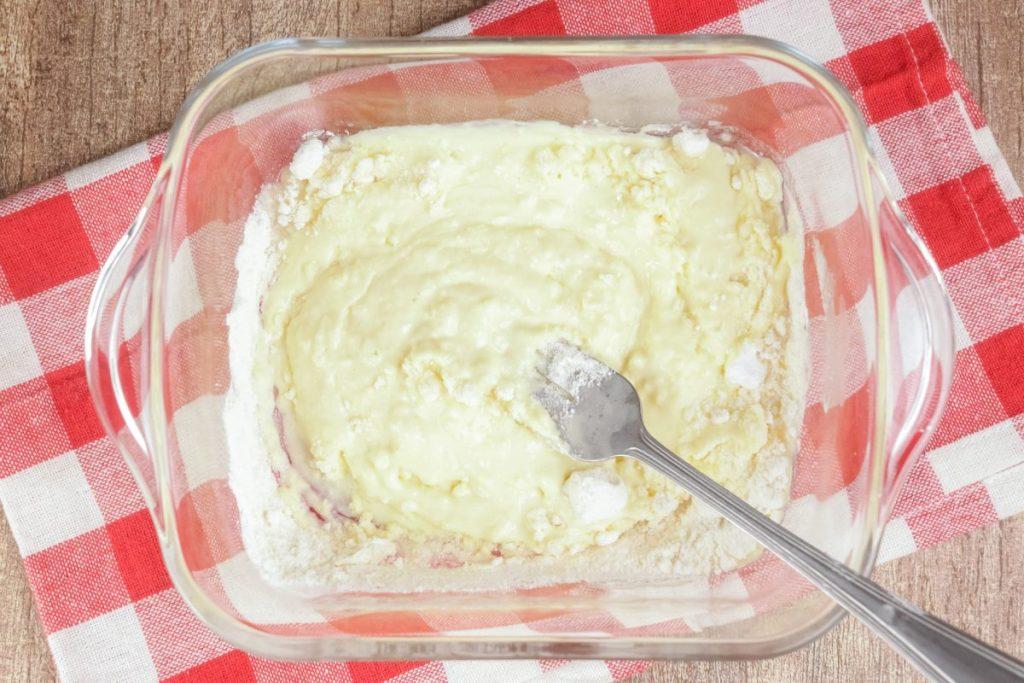 Stir in coconut flour and baking powder