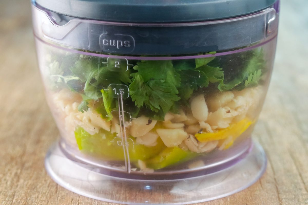 Combine all ingredients in a food processor.