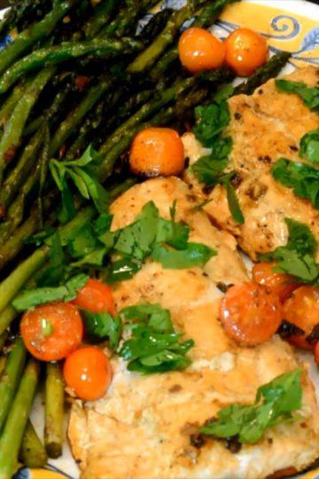 Keto Salmon and Asparagus